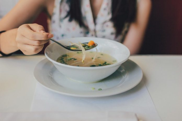 Hot Healthy Bowl of Soup
