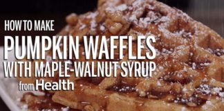 How to Make Pumpkin Waffles with MapleWalnut Syrup