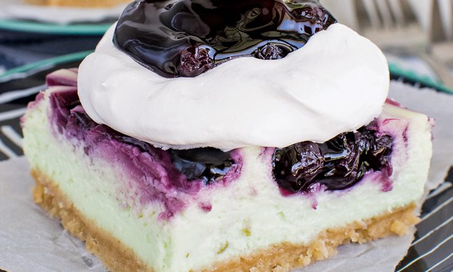Blueberry Key Lime Cheesecake Bars - Family Life Tips Magazine