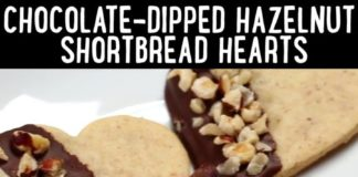 Recipe: How-to Make Chocolate Dipped Hazelnut Shortbread Hearts
