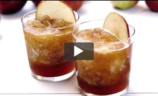 Recipe: Boozy Apple Cider Slushie