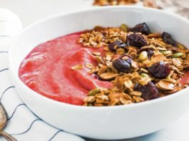 Tart Cherry Granola Smoothie Bowls Recipe