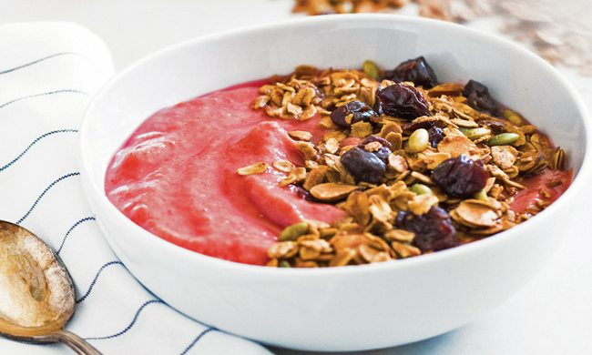 Tart Cherry Granola Smoothie Bowls Recipe