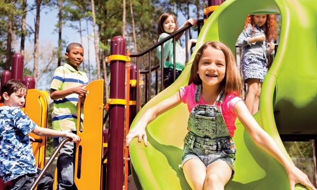 Practice safety first to avoid sustaining a serious injury while using playground equipment