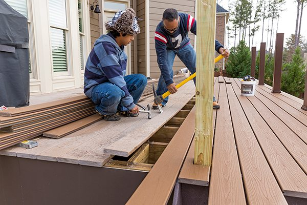 Before starting any work on your deck, inspect your deck's joists and the overall condition.