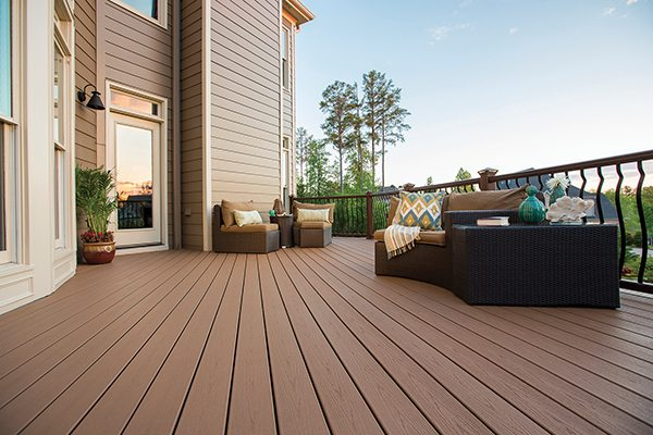 Finish your new home deck project by adding your choice of decorative outdoor patio elements