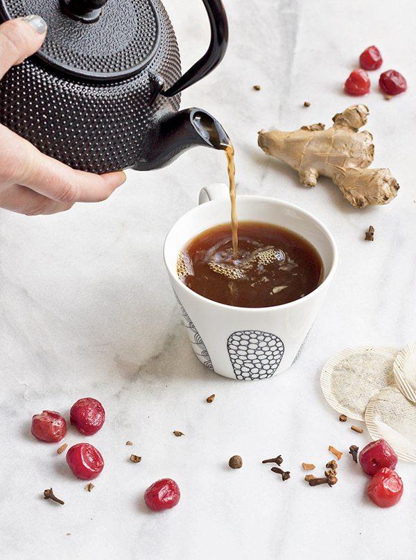 Recipe: Tart Cherry Turmeric Bedtime Tea