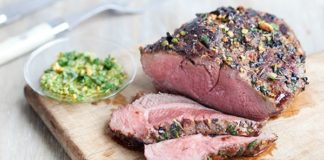 Recipe: Mint Pistachio Pesto with Lamb