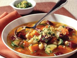 Rustic Vegetable-Beet Soup
