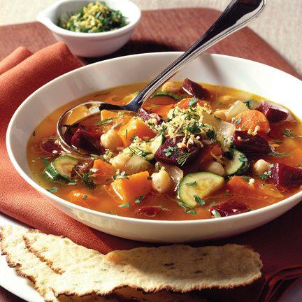 Rustic Vegetable-Beet Soup