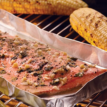 Alaska Sockeye Salmon with Herbs and Garlic