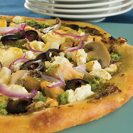 Yummy & Healthy Greek Pizza Recipe