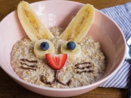Bunny-Faced Microwave Oatmeal Recipe
