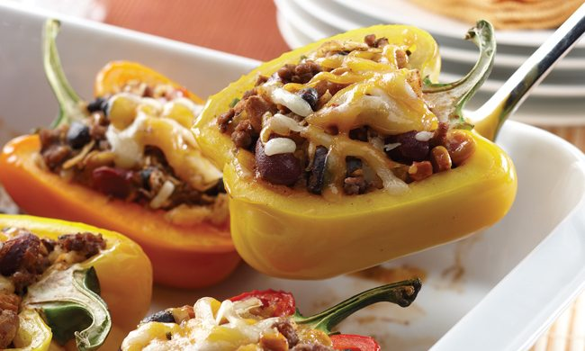 Southwestern Bean Salad Stuffed Peppers