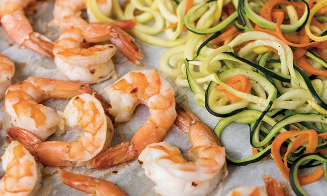 Coconut Lime Shrimp with Zoodles Recipe