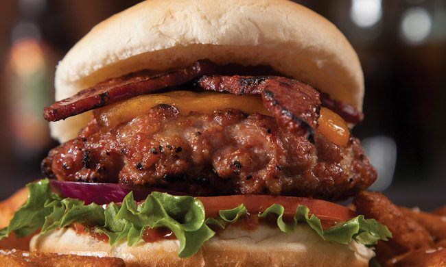 Duck Bacon Burgers with Cheese