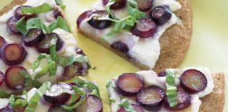 Grape and Ricotta Pita Pizzas