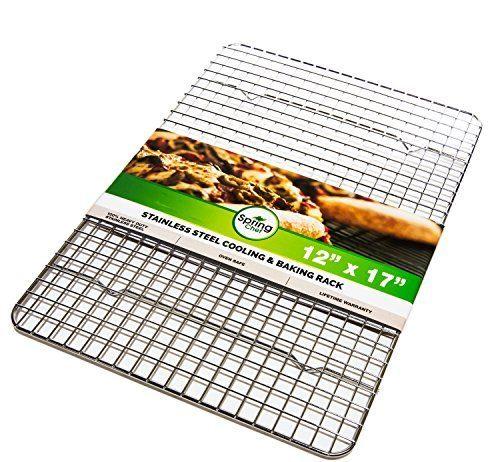 Oven Safe, Heavy Duty Stainless Steel Baking Rack