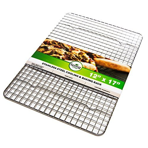 Oven Safe, Heavy Duty Stainless Steel Baking Rack