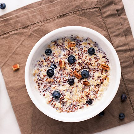 Nutty Blueberry Quinoa Oatmeal Recipe