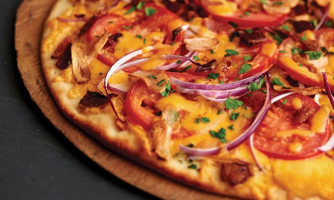 Cheesy Flatbread Pizza