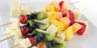 Rainbow Fruit and Cheese Kabobs