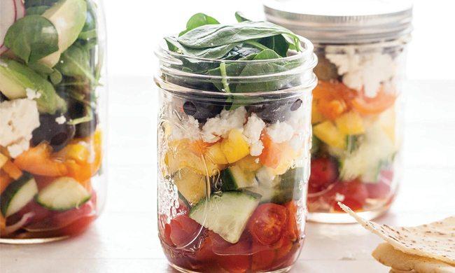 Greek Salad in Jars   Family Life Tips