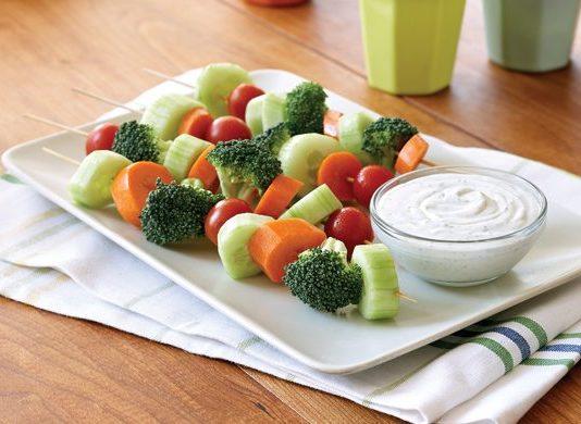 Portable Veggie Kabobs with Tangy Veggie Dip | Family Life Tips Magazine