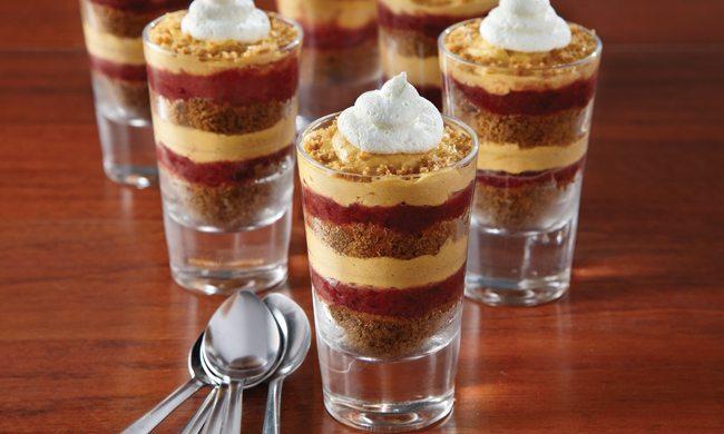 Mini Pumpkin Parfait with Cranberry Caramel Recipe | Family Life Tips