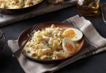 Campanelle with Prosciutto and Peas