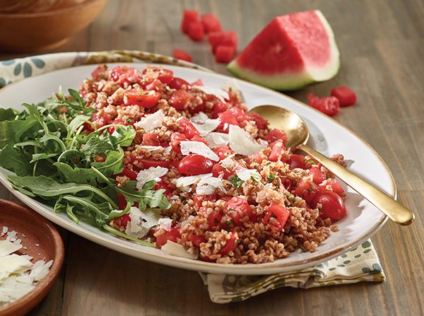 Watermelon and Bulgur Wheat Salad