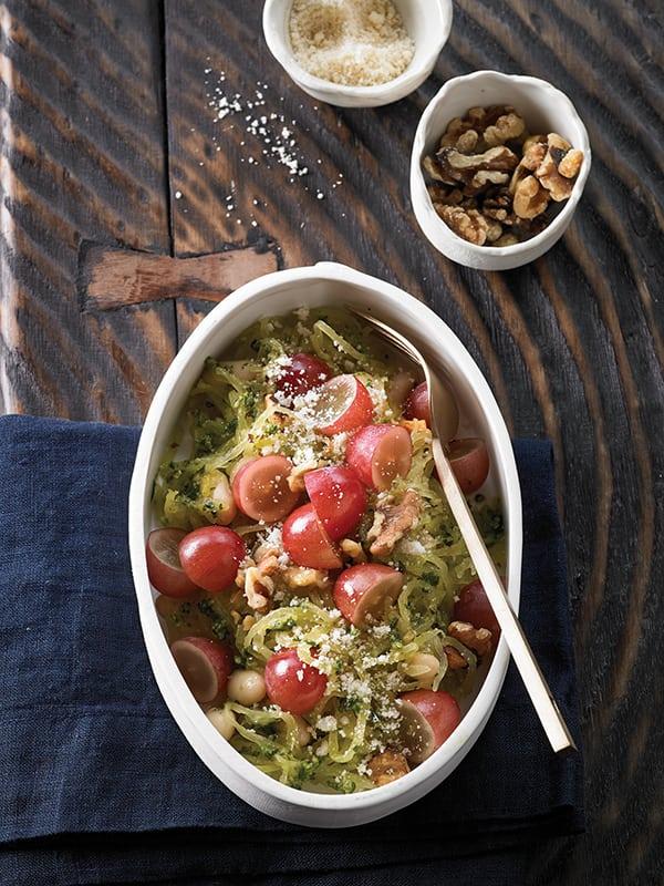 Recipe: Spaghetti Squash with Pesto and Grapes   Family Life Tips Magazine