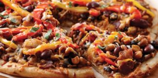 Southwestern Bean Mexican Pizza | Family Life Tips Magazine