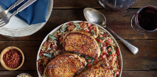 Dinner Recipe: Pork Chops in Creamy Roasted Garlic Florentine Sauce