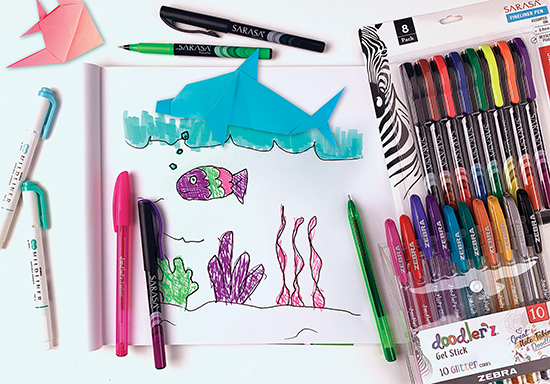 Encouraging kids to capture their experiences on paper with Zebra Pens | Family Life Tips Magazine