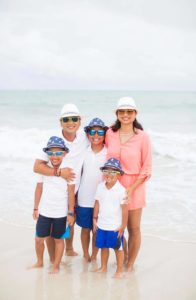 Author Kathy Tran - Pictured with Family | Family Life Tips Magazine
