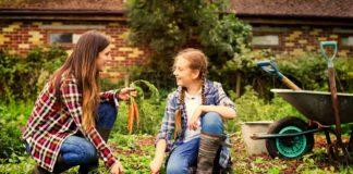 Mother and Daughter Enjoying Bonding Time Gardening Together | Family Life Tips Magazine