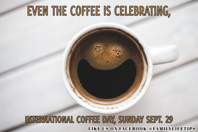 Coffee Meme: Even the Coffee is Celebrating, International Coffee day, Sunday Sept. 29.