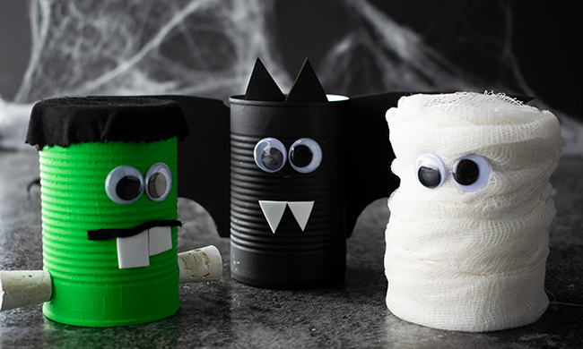 Spooky Halloween Soup Can Craft