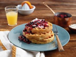 Breakfast Recipe: Sweet Potato Waffles with Whipped Cream and Berry Compote | Family Life Tips Magazine