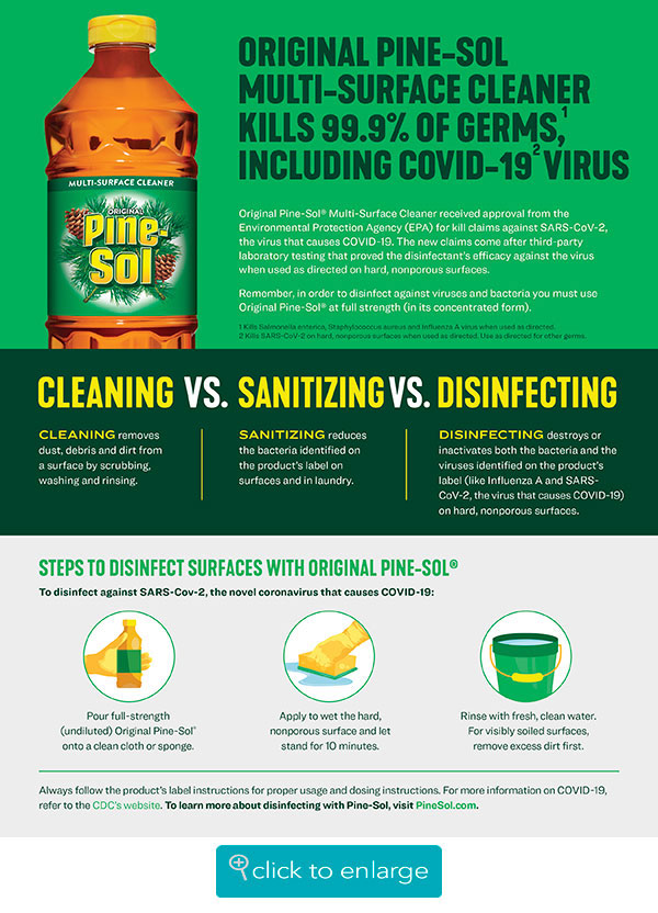 Cleaning vs. Sanitizing vs. Disinfecting with Pine-Sol