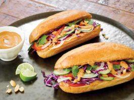 Recipe: Veggie Sammies with Peanut Butter Satay Sauce